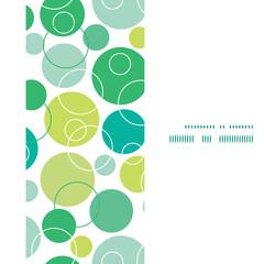 Vector abstract green circles vertical frame seamless pattern
