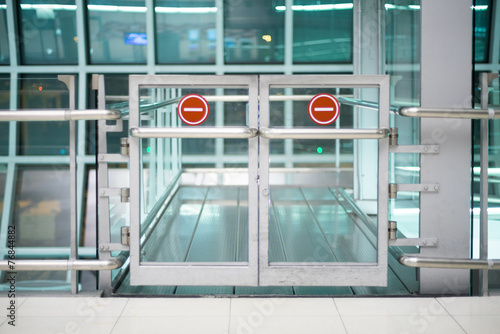 forbidden area gate at the airport - 76844882