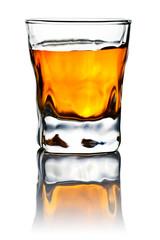 whiskey isolated on white