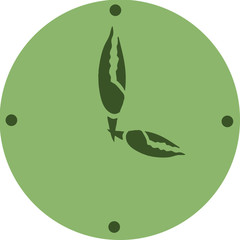 Green icon watch with crayfish claws