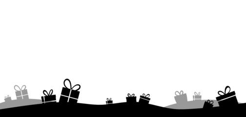 Geschenke schwarz