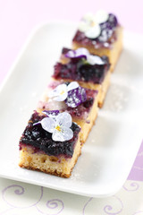 Blueberry Petits Fours