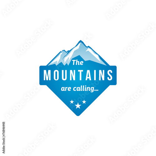 Mountain label - 76846448