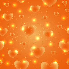 Hearts for Valentines Day Background Design