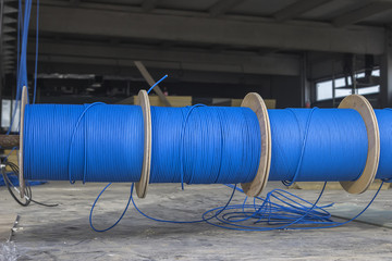Blue ftp ethernet cable reels