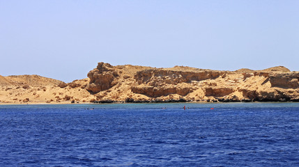 Red sea seashore on Ras Mohamed territory