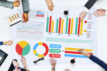 Business People Meeting Planning Analysis Statistics Concept