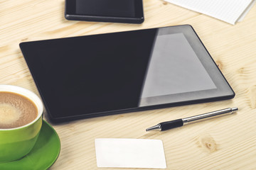 Business Analysis, Digital Tablet on Office Table