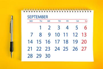 September Calendar Page