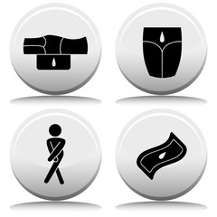 Incontinence Button Set