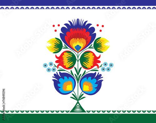 wzor-ludowy-z-kwiatami-lowicki