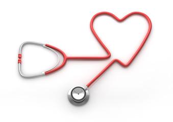 Stethoskop in Herzform