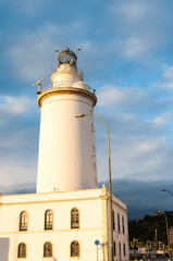 Lighthouse in Malaga in Andalusia, Spain