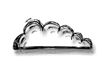 Wolke - Skizze / Zeichnung....