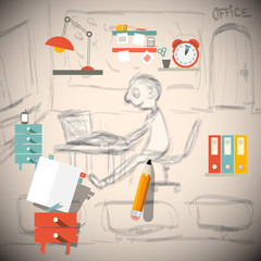 Graphic Designer or Architect - Engineer in Office