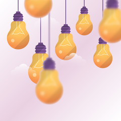 Light bulbs background