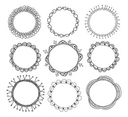Hand-drawn circle frames