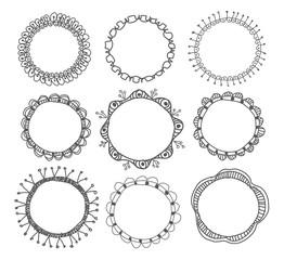 Hand-drawn circle frames