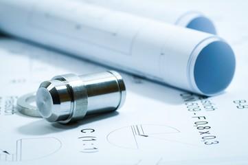 Metallbau: Konstruktionspläne und Musterwerkstücke