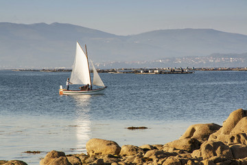 Sailing in Arousa Island