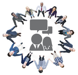 Business People Holding Hands Communication Concept