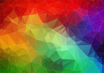 Multicolor bright abstract triangle image for web design