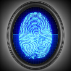 Finger-print scanning. Touch-id.