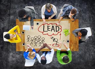 People Meeting Leadership Teamwork Concept