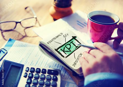 Key Performance Indicator KPI Evaluation Accounting Concept - 76855078