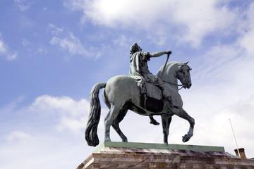 Equestrian Statue of Frederik V on Amalienborg Palace Square