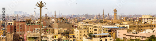 In de dag Afrika Panorama of Islamic Cairo - Egypt