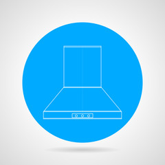 Flat vector icon for hood extractor