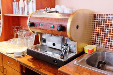 coffee machine in the bar