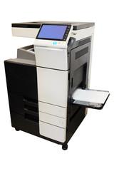 Multifunction printer isolated on white background