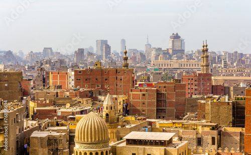 Poster View of city center of Cairo - Egypt