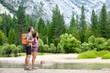 Hiking people on hike in nature in Yosemite