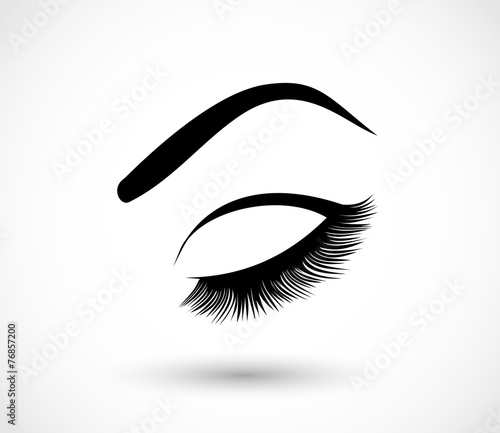 Eyes, beauty, makeup icon vector - 76857200