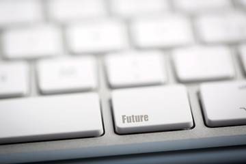 "The word ""FUTURE"" written on keyboard."