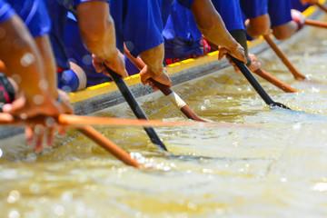 teamwork of rowing team