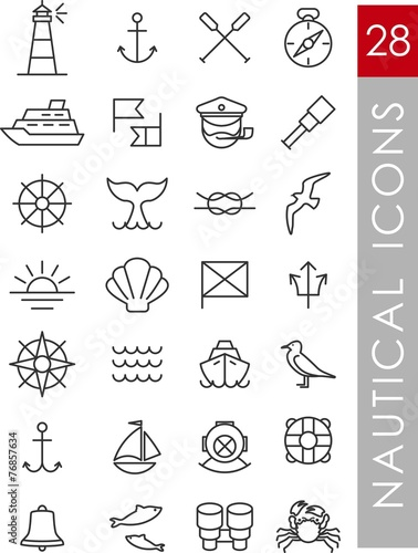 Nautical icons - 76857634
