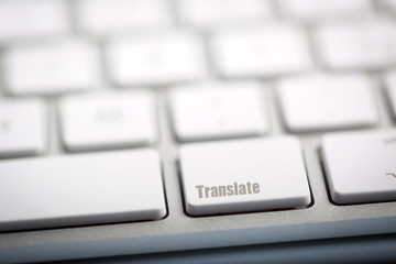 "The word ""TRANSLATE"" written on keyboard"