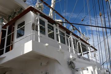 帆船デッキ