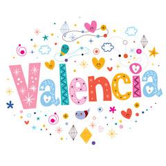 Valencia typography lettering design