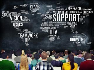 Global People Conference Seminar Teamwork Concept