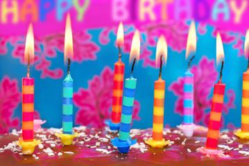candles on birthday cake