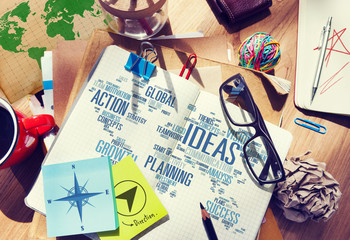 Businessman Planning Notepad Vision Creativity Ideas Concept
