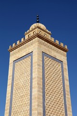 Minaret of the mosque of Saint Etienne, France