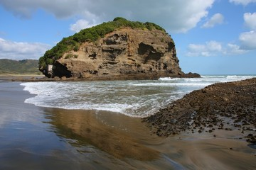 New Zealand black beach