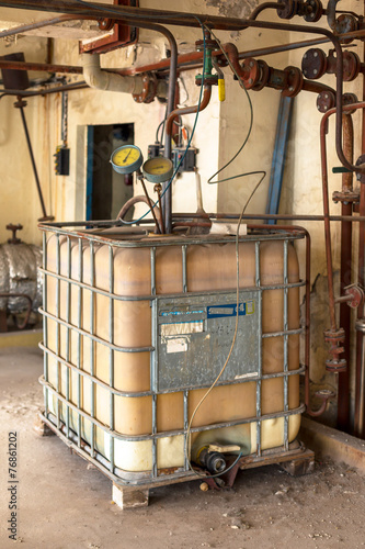 Industrial interior with chemical tanks - 76861202
