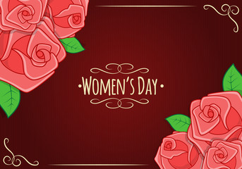 Eight 8 of March, Women's Day background.